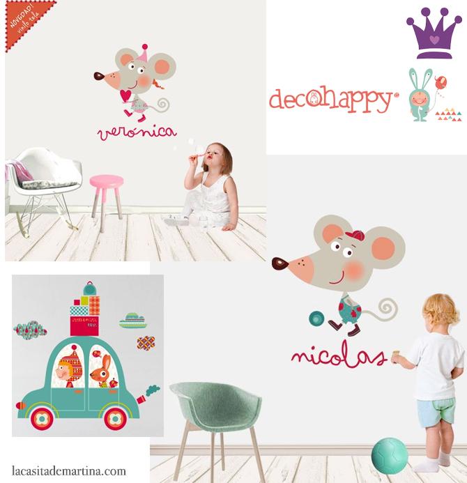 Vinilos Decorativos, Vinilos infantiles, Decohappy, Blog de Moda Infantil, La casita de Martina