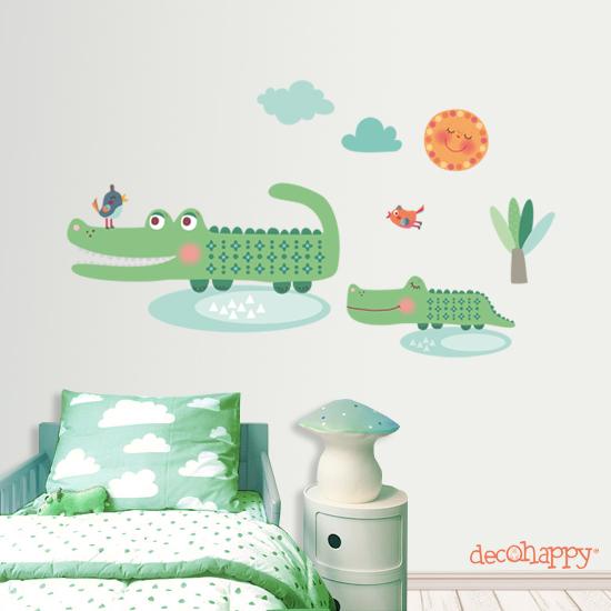 vinilo-infantil-cocodrilosVinilosVinilos Decorativos, Vinilos infantiles, Decohappy, Blog de Moda Infantil, La casita de Martina