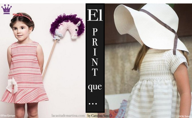 Blog de Moda Infantil, Print geométrico, Vestidos para niñas, Fina Ejerique, Oh Soleil, La casita de Martina