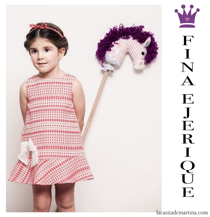 Blog de Moda Infantil, Print geométrico, Vestidos para niñas, Fina Ejerique, La casita de Martina