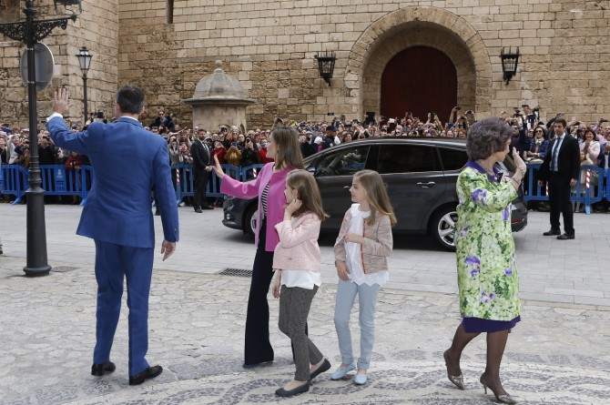 ropa Princesa Leonor, Infanta Sofia, reina Leticia, Misa de Pascua, Blog de Moda Infantil, 5