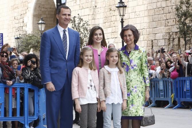 ropa Princesa Leonor, Infanta Sofia, reina Leticia, Misa de Pascua, Blog de Moda Infantil, 6