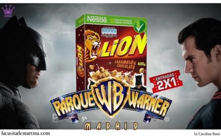 Batman V Superman: El amanecer de la Justicia, Cereales Lion, Parque Warner, Blog de Moda Infantil, La casita de Martina