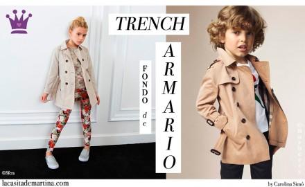 Tendencias moda infantil, Trench Burberry, La casita de Martina, Blog Moda Infantil