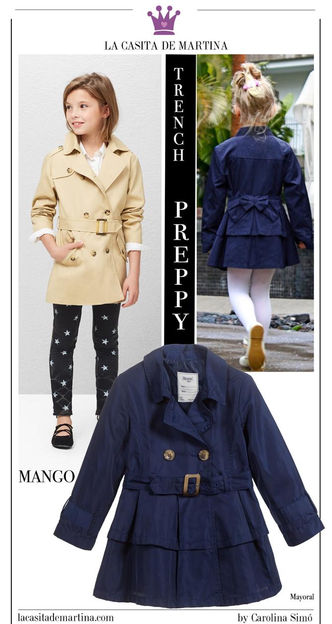 Tendencias moda infantil, Gabardina Burberry, Trench Mango, La casita de Martina, Blog Moda Infantil