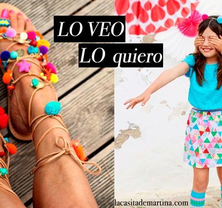 Sandalias de pompones, Blog de Moda Infantil, La casita de Martina, Carolina Simó