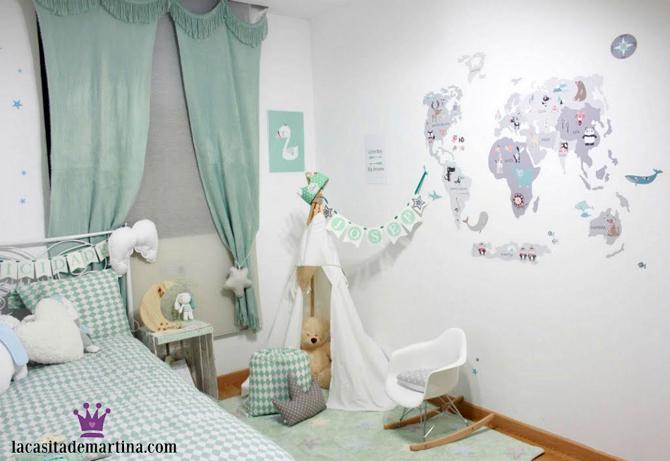 Vinilos infantiles, laminas habitacion bebe, decohappy, Blog Moda Infantil, La casita de Martina