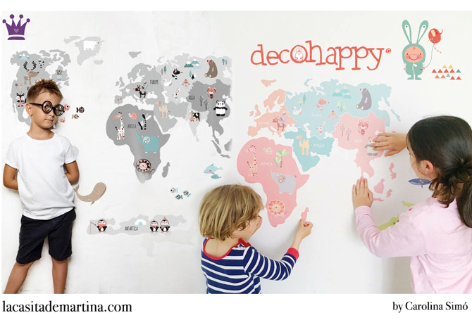 Vinilos infantiles, vinilos decorativos, decohappy, Blog Moda Infantil, La casita de Martina