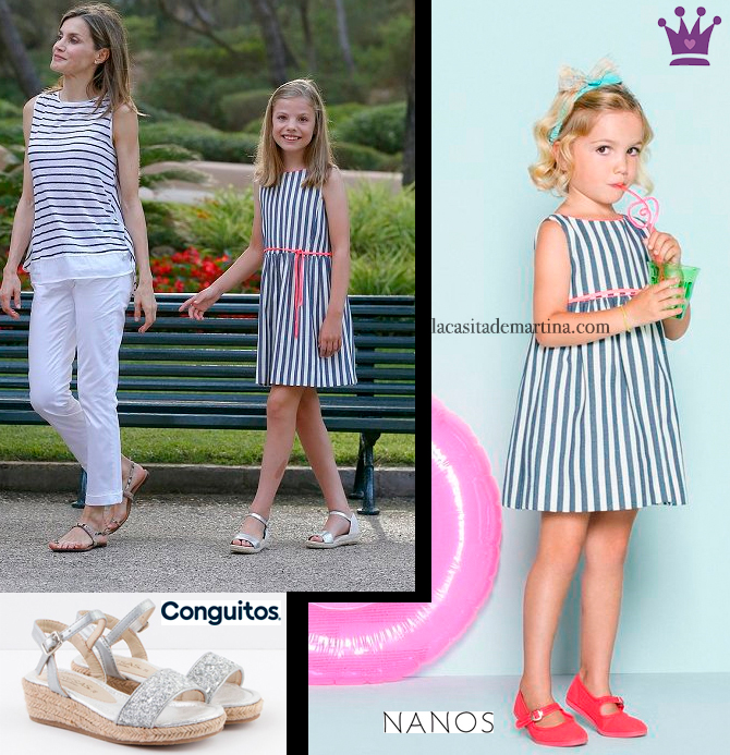 Marca vestido Leonor y Sofia, Posado real Marivent, Moda Infantil, La casita de Martina, Blog de Moda Infantil