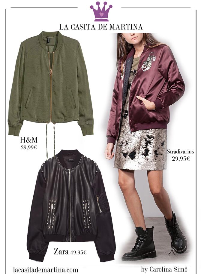 Bomber, Tendencias Moda, Blog de Moda, La casita de Martina, Zara, Stradivarius, HM
