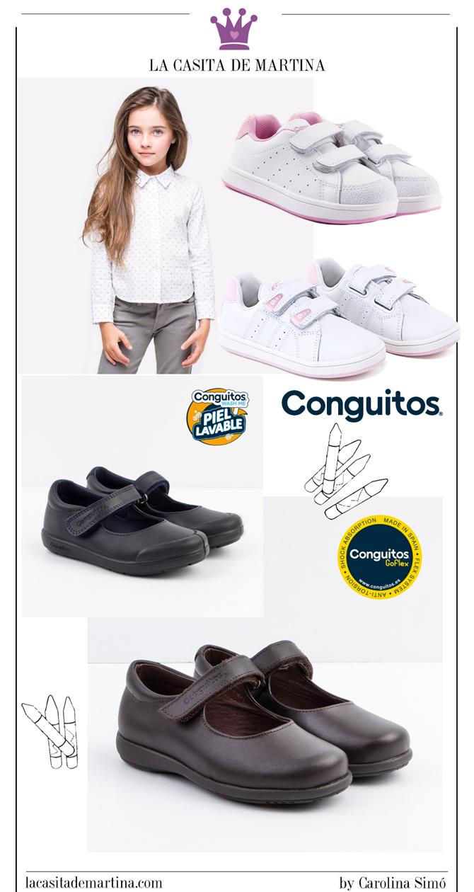 Calzado para uniformes, Zapatos vuelta al cole, Moda Infantil, La casita de Martina, Conguitos