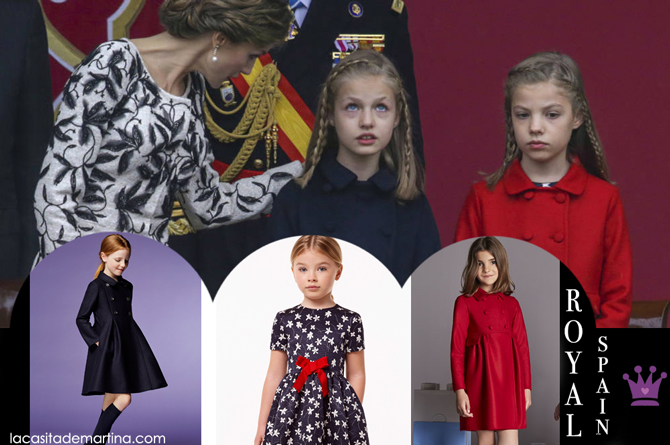 Abrigos de Leonor y Sofia dia de la Hispanidad, Marca ropa Leonor y Sofia, Blog de Moda Infantil, La casita de Martina