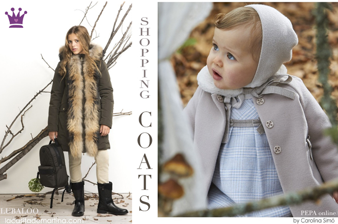 Abrigos moda infantil, La casita de Martina, Lubaloo Madrid, Boutique Peppa, Kids Wear