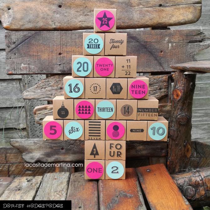 Calendario de Adviento, Decoracion Navidad, Blog de Moda Infantil, La casita de Martina, Carolina Simo
