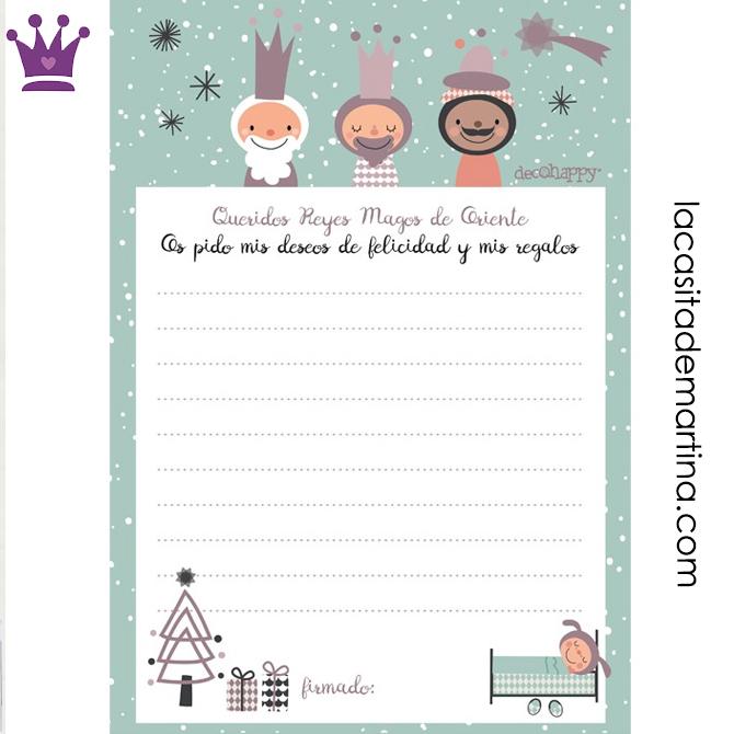 Carta para los Reyes Magos, Carta para Papa Noel, Decohappy, Blog de Moda Infantil, La casita de Martina, 1