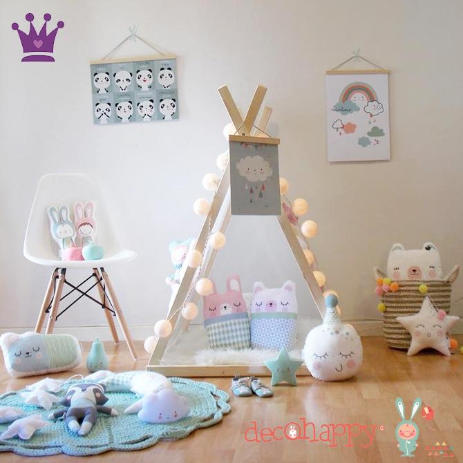 Vinilos Infantiles, Decoracion habitacion bebes, Habitaciones estilo nordico, Decohappy, La casita de Martina, Blog de Moda Infantil