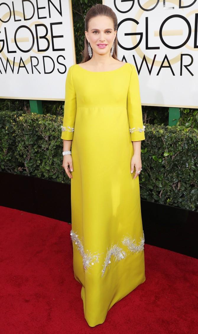 Natalie Portman, Mejor vestidas Globos de Oro, Peor vestidas Globos de oro, Moda Premama, Moda embarazada, Blog Moda Embarazada, La casita de Martina