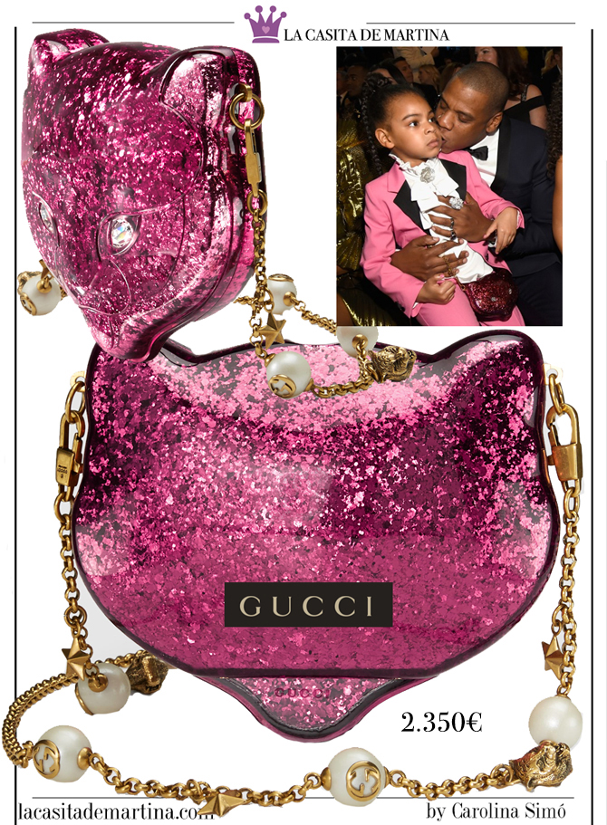 Gucci, Beyonce premios Grammy, bolso Blue Ivy Gucci, Blog de Moda Infantil, La casita de Martina, 2