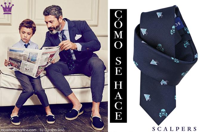 Como hacer el nudo de la corbata, corbatas para ninos, blog de Moda Infantil, Scalpers