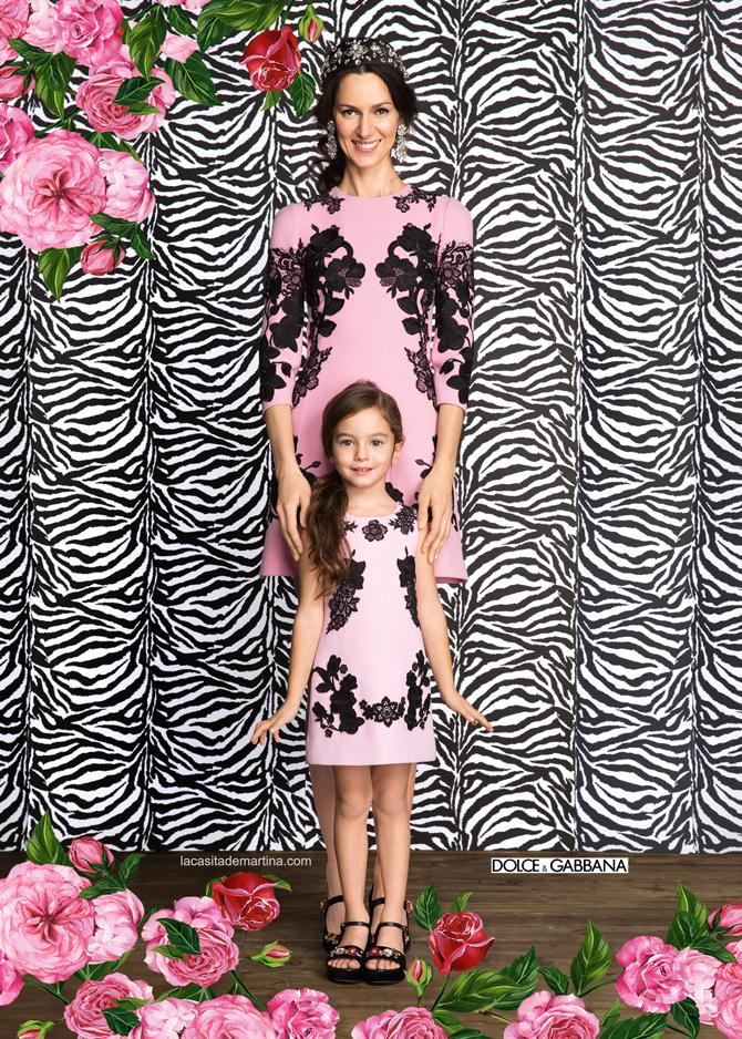 Dolce Gabbana, Moda Infantil, Minime, vestir como mama, La casita de Martina