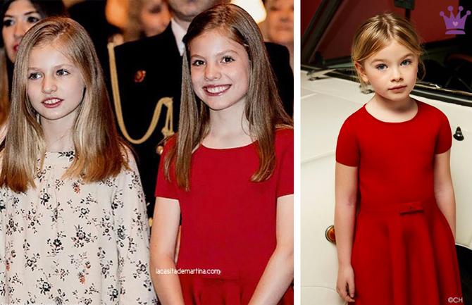 Marca de los vestidos de Leonor y Sofia, Reina Letizia, Blog de Moda Infantil, Misa de Pascua, La casita de Martina