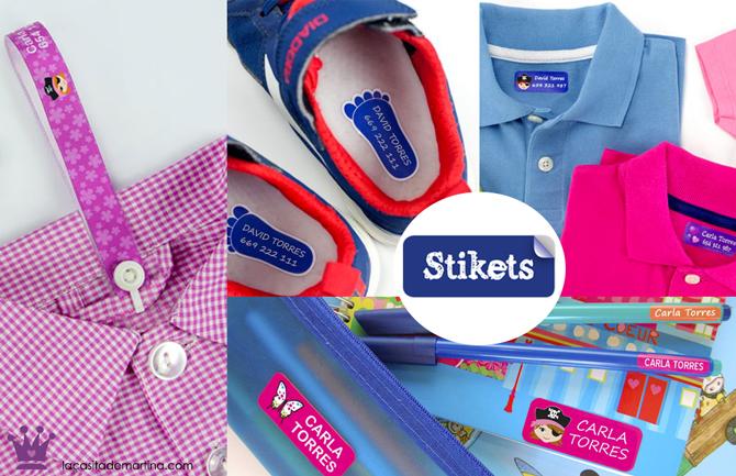 Etiquetas para marcar la ropa, Etiquetas para zapatos, Pulseras nombre, Stikets