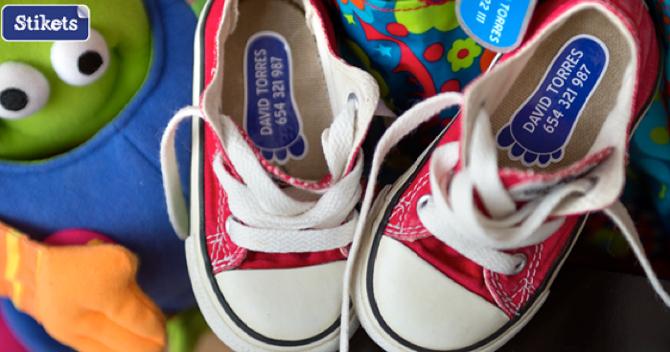 Etiquetas para marcar la ropa, Etiquetas para zapatos, Pulseras nombre, Stikets, 7