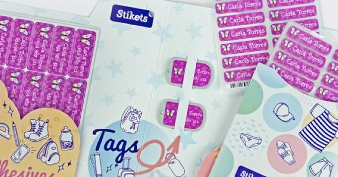 Etiquetas para marcar la ropa, Etiquetas para zapatos, Pulseras nombre, Stikets, 9