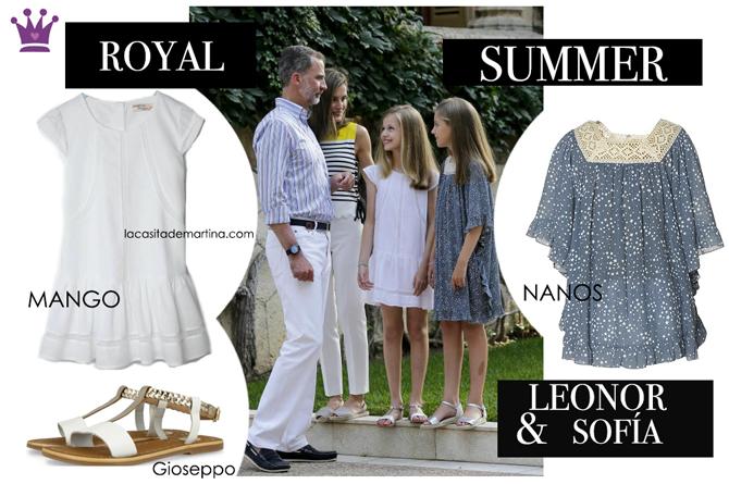 Marca vestidos Leonor y Sofia en Palma, Princesa Leonor, Infanta Sofia, Blog Moda Infantil, La casita de Martina, Nanos, Mango, Gioseppo