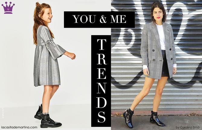 Tendencias moda infantil, cuadros Principe de Gales, Blog de Moda infantil, kids wear, La casita de Martina, Zara kids