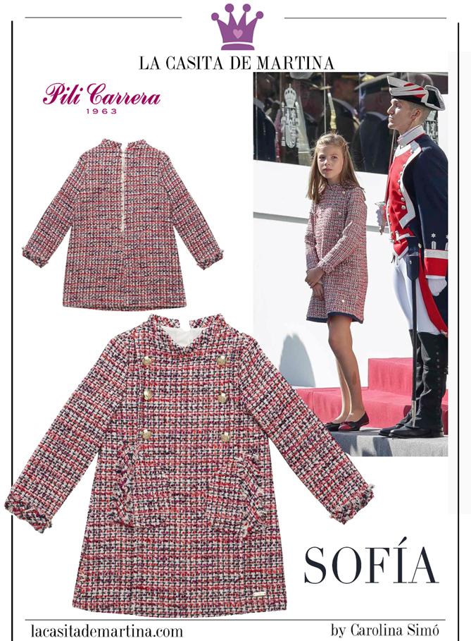 Vestido princesa Leonor, Marca vestido infanta sofia, Blog de moda infantil, La casita de Martina, marcas de ropa leonor y sofia