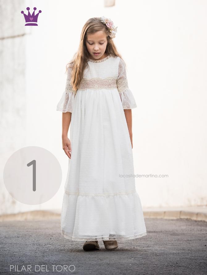 Vestido comunion 2018, Traje comunion 2018, Pilar del Toro, Blog Comuniones, La casita de Martina, moda Infantil