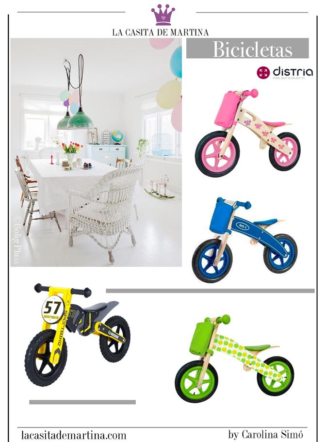 Juguetes de madera, Distria, Tienda online de juguetes, La casita de Martina, Bicicletas de madera