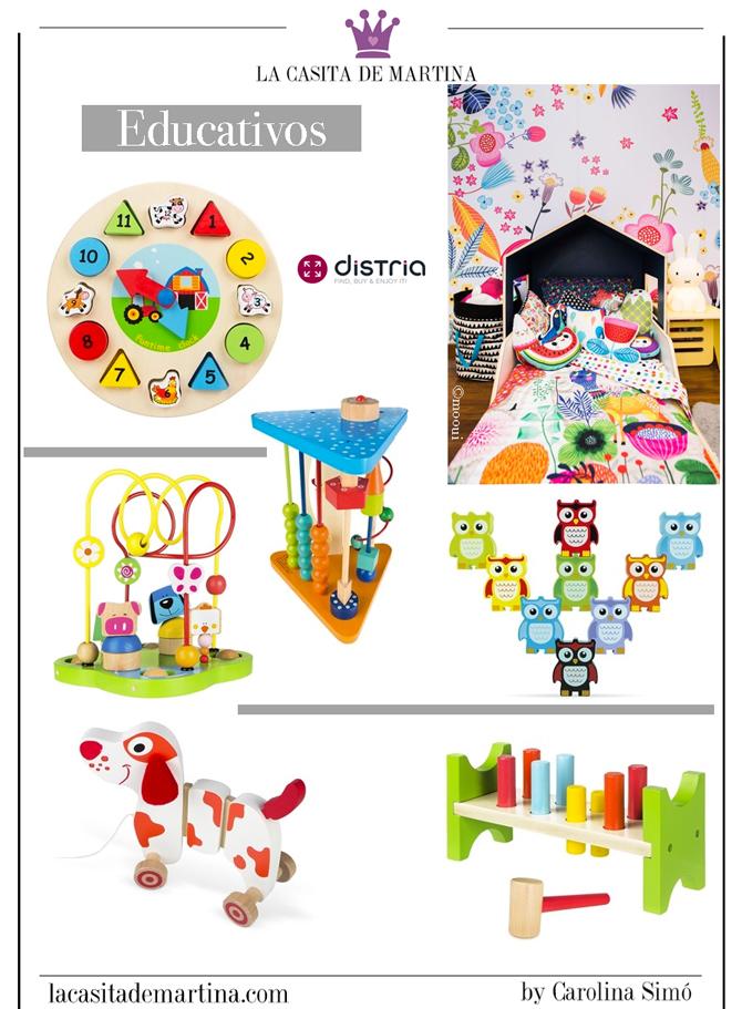 Juguetes de madera educativos, Distria, Tienda online de juguetes, La casita de Martina