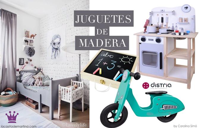 Juguetes de madera, Distria, Tienda online de juguetes, La casita de Martina