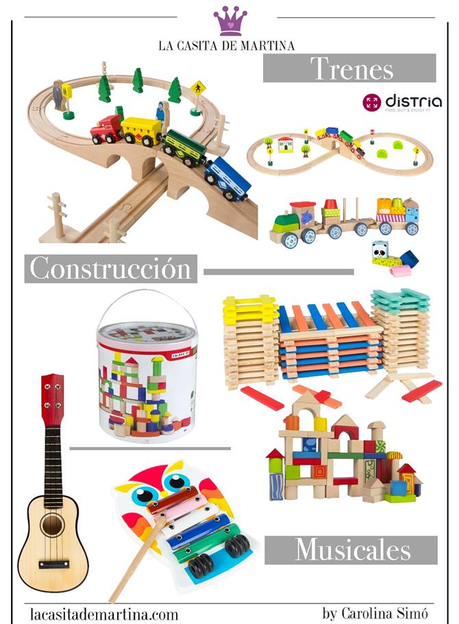 Juguetes de madera, Distria, Tienda online de juguetes, La casita de Martina, Trenes de madera