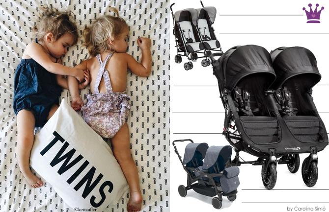 Cochecitos gemelares, silla gemelares, blog puericultura, moda infantil, la casita de martina