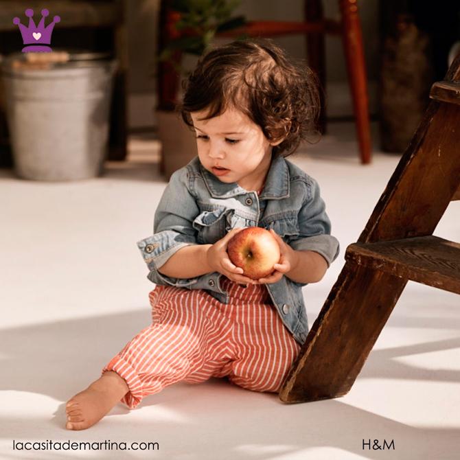 Blog de Moda Infantil, Ropa infantil, tendencias moda infantil, cazadora vaquera, La casita de Martina, HM