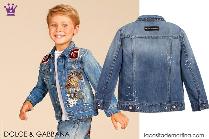 Blog de Moda Infantil, Ropa infantil, tendencias moda infantil, cazadora vaquera, La casita de Martina, Dolce Gabbana