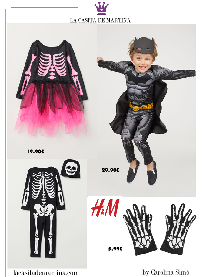 Disfraces baratos Halloween, disfraces originales halloween, blog moda infantil, la casita de Martina, hm, 1