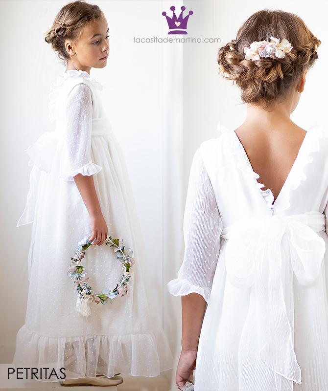 Vestidos comunion 2019, trajes comunion Petritas, Blog moda infantil, La casita de Martina