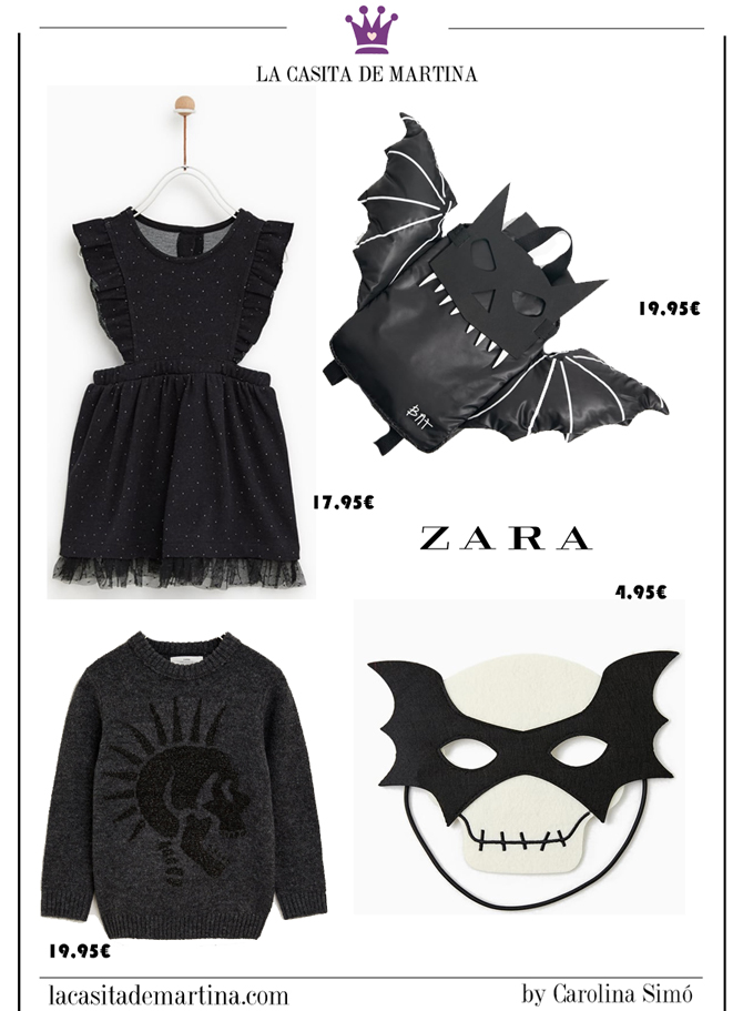 Disfraces baratos Halloween, disfraces originales halloween, blog moda infantil, la casita de Martina, zara, 1