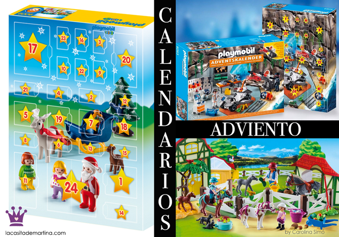 Calendarios adviento originales, calendario adviento Playmobil, la casita de martina, blogs de moda infantil