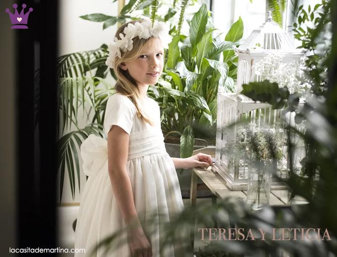 Teresa y Leticia vestidos comunion, trajes comunion, tendencias comunion 2019, la casita de martina, 2