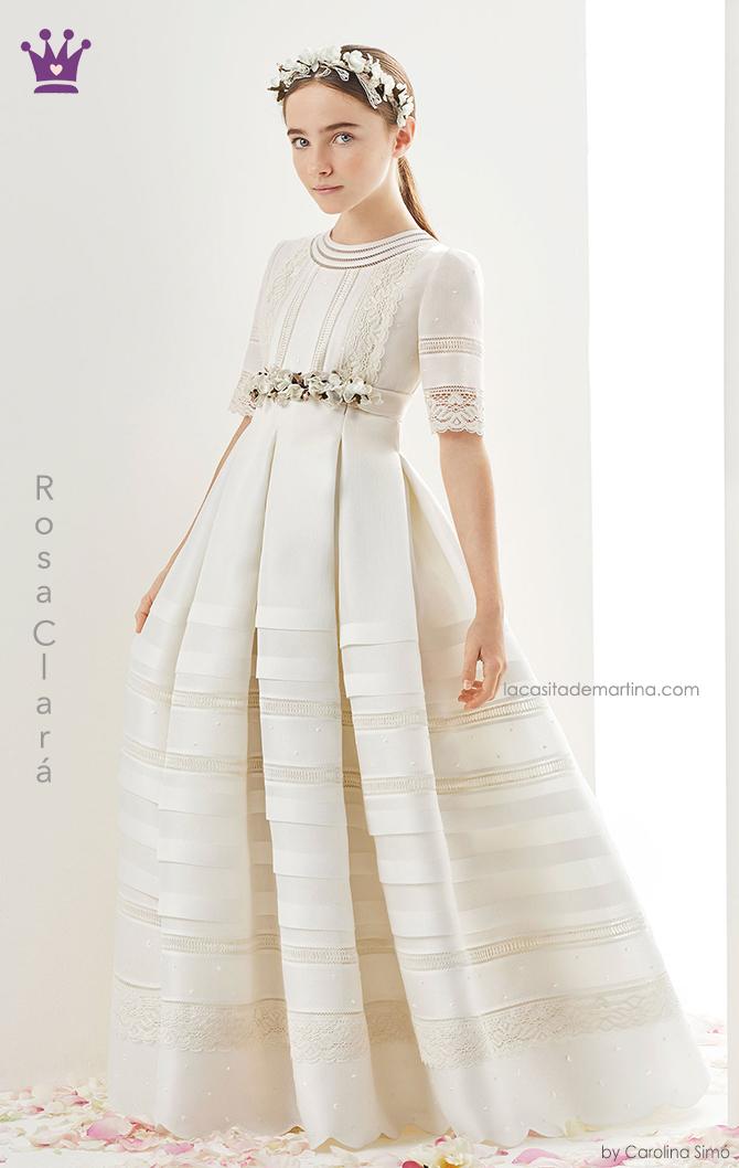 Rosa clara, vestidos comunion, trajes comunion 2019, blogs moda infantil, la casita de martina, 2