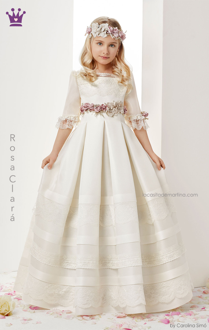 Rosa clara, vestidos comunion, trajes comunion 2019, blogs moda infantil, la casita de martina