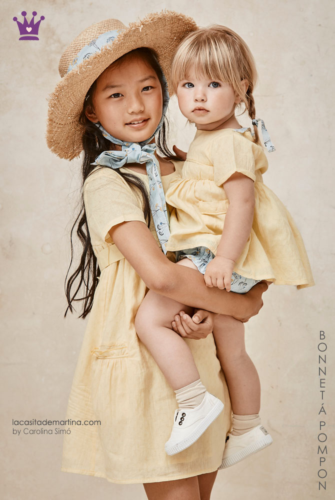 Blog moda infantil, la casita de Martina, Carolina Simo, Bonnet a Pompon, vestidos nina