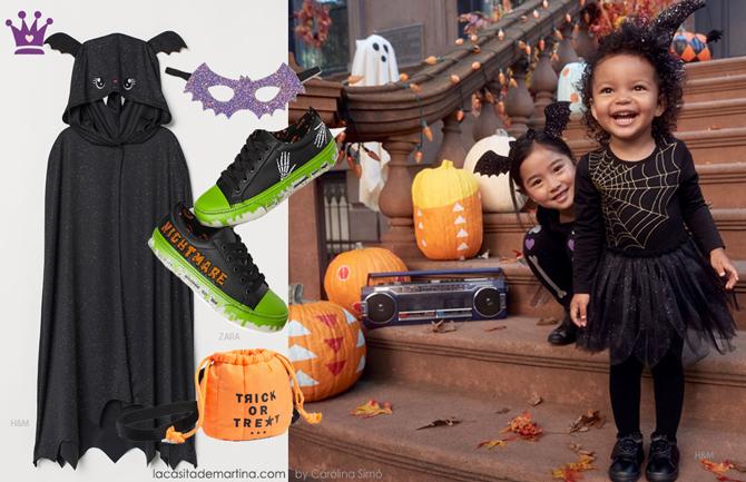 Disfraces originales halloween, blog moda infantil, HM, la casita de Martina, zara, mango