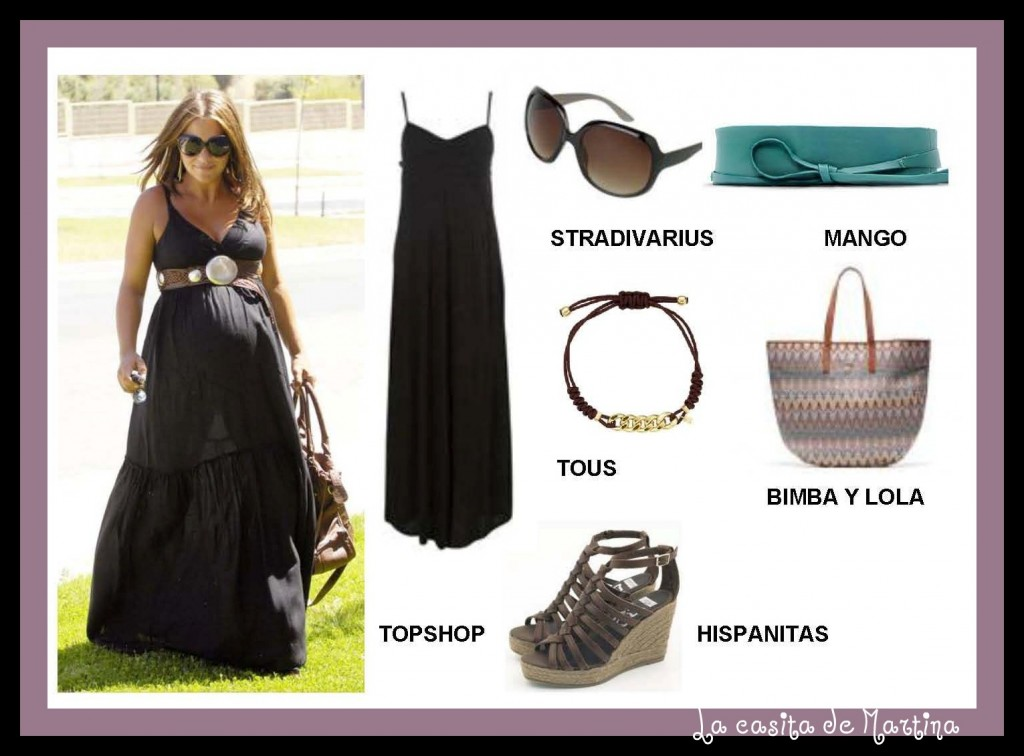 Look premamá Paula Echevarría en - La casita de Martina Blog Moda Infatil  Carolina Simó-