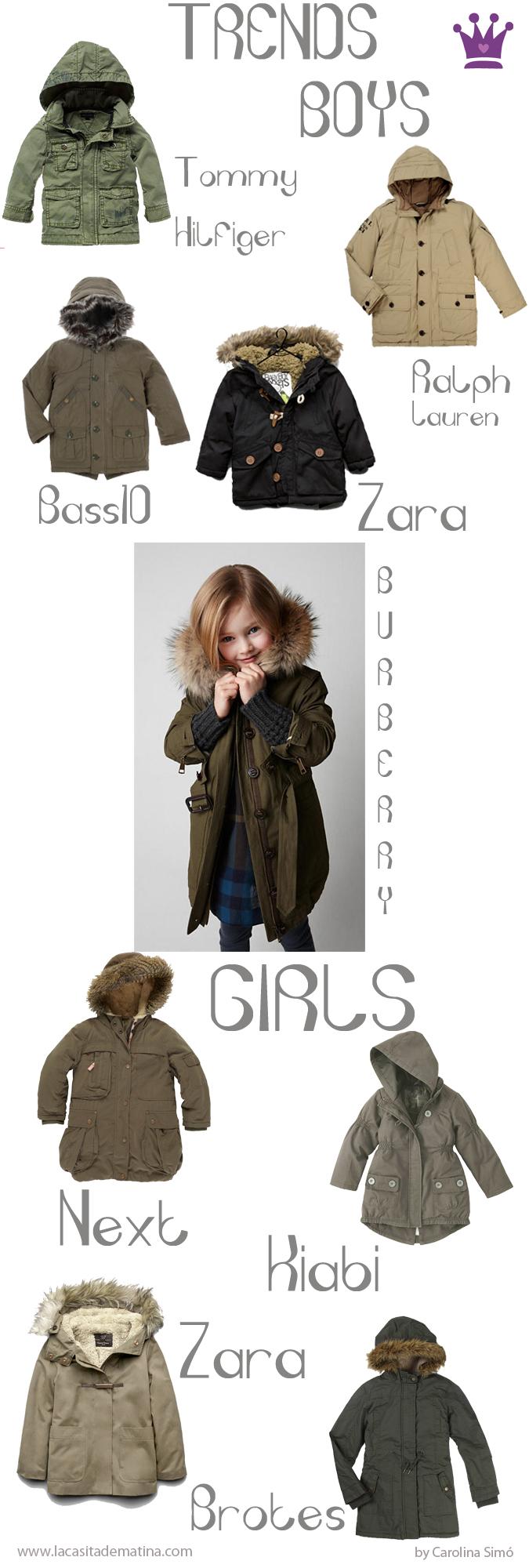 Parka Tendencias Moda Infantil, Blog de Moda Infantil   La casita de Martina